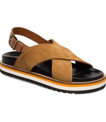 andrea 1a shoes summer shoes flat sandals brun marc o'polo footwear
