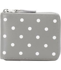 comme des garçons wallet zip-around polka dot wallet