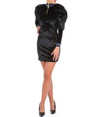 vestito abito donna corto miniabito manica lunga noble
