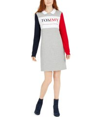 tommy hilfiger polo-collar colorblocked dress