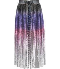 paco rabanne mini mesh shaded skirt