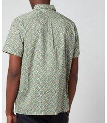 a.p.c. men's cippi short sleeve shirt - khaki - s