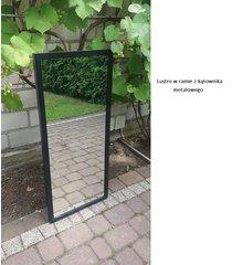 lustro w ramie metalowej