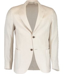 hopsack peak lapel platinum jacket