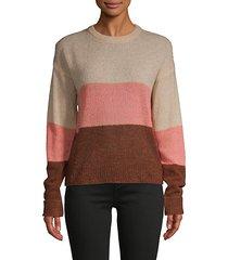 colorblock wool-blend sweater