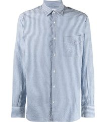 aspesi textured vertical stripe shirt - blue