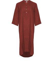 tiffany tiffany x lång linne skjortklänning dammig röd, 18970