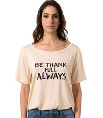 blusa t-shirt bloom be thankfull  - kanui