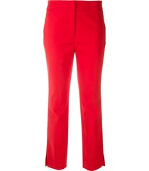 eva tailored straight trousers