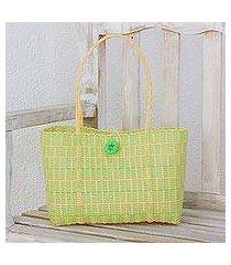 recycled tote handbag, 'spring day' (guatemala)