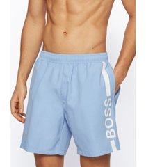 boss men's logo-print swim shorts