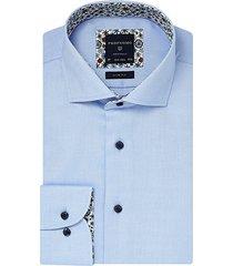 profuomo overhemd licht blauw met print detail