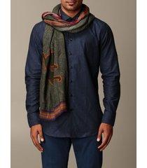 etro scarf etro modal and cashmere scarf with pegaso logo