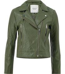 bikerjacka jdyilde short faux leather jacket