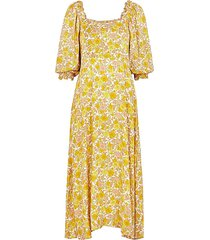 bronte floral-print midi dress