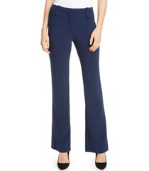 women's altuzarra wide leg serge pants, size 10 us - blue