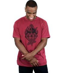 camiseta bleed american diamond vinho - vinho - masculino - dafiti