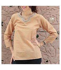 cotton tunic, 'desert sapphire' (india)