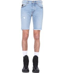 denim shorts versace
