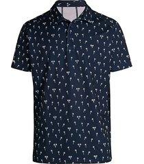 bonobos men's palm-print piqué knit golf polo - blue palms - size l