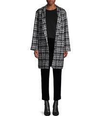 twisted tweed check coat