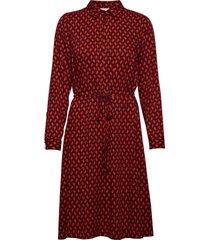 dress woven fabric jurk knielengte rood gerry weber