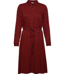 dress woven fabric jurk knielengte rood gerry weber
