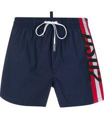 dsquared2 drawstring swim shorts - blue