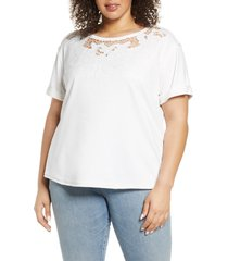 plus size women's single thread embroidered cutout sweatshirt