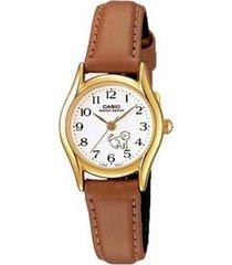 reloj casio ltp_1094q_7b7r marrón cuero