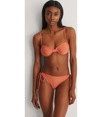 na-kd swimwear recycled rynkad knuten bikinitrosa - orange
