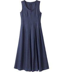 linnen jurk, indigo 38