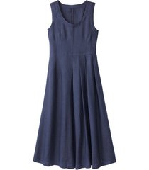 linnen jurk, indigo 36
