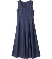linnen jurk, indigo 46