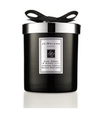 vela perfumada dark âmber & ginger lily home candle 200g - preto
