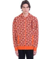 kenzo sweatshirt in orange cotton