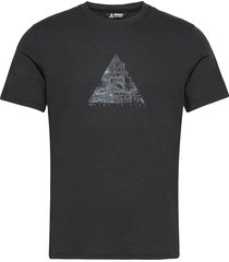 explore blend tee m black/heather t-shirts short-sleeved svart salomon