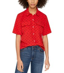tommy hilfiger dotted boxy top