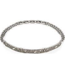 elements crystal encrusted watch link necklace