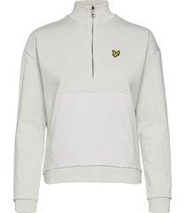 1/2 zip funnel neck sweat-shirts & hoodies fleeces & midlayers vit lyle & scott