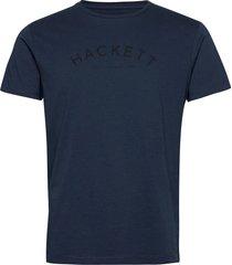 classic logo tee t-shirts short-sleeved blå hackett london