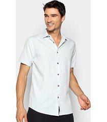 camisa forum manga curta slim fit masculina