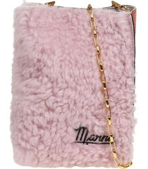 marni museo soft shoulder bag in leather and sheepskin