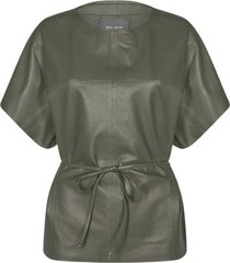 shirley leather blouse