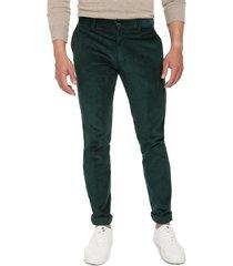 pantalón pana verde los caballeros