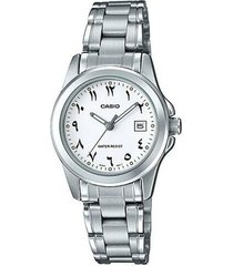 reloj analógico mujer casio ltp-1215a7b3 - plateado con blanco  envio gratis*