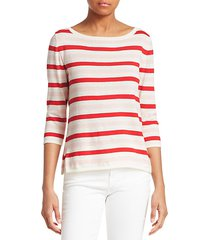 striped cotton cashmere sweater