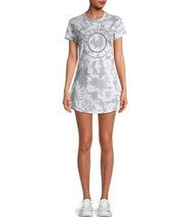 true religion women's tie-dye logo t-shirt dress - grey - size m