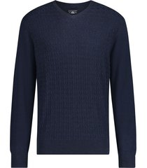 pullover state of art navy ruitpatroon