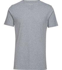 alder basic v-neck tee - gots/vegan t-shirts short-sleeved grå knowledge cotton apparel